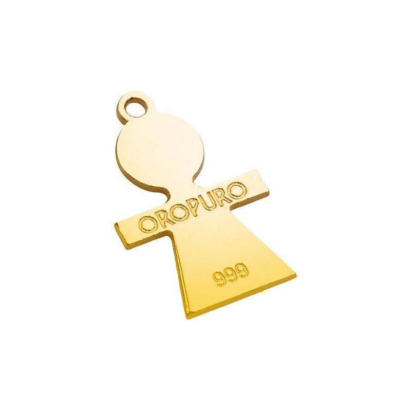 Collezione Preziosa Angelo in oro puro 999‰